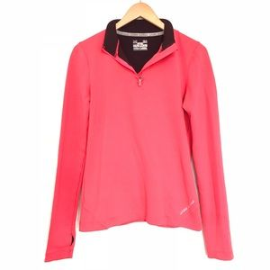 Under Armour Neon Fitted ColdGear 1/4 Zip Pullover